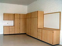large corner unit garage cabinets combination
