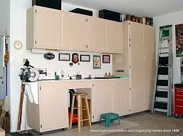 custom work bench area to go with your Garage Cabinets or Office Cabinets